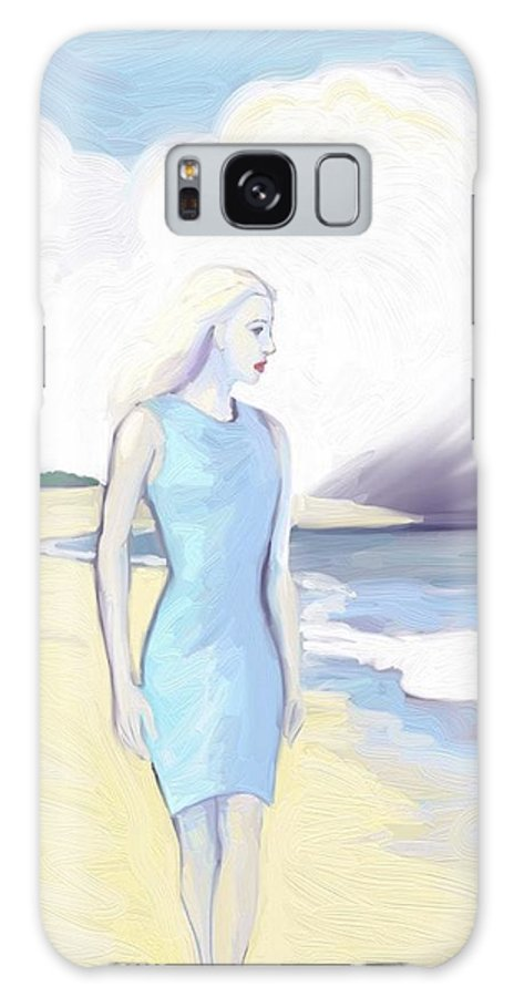 Ocean Galaxy S8 Case featuring the painting Widow By The Sea by Lee Steiner