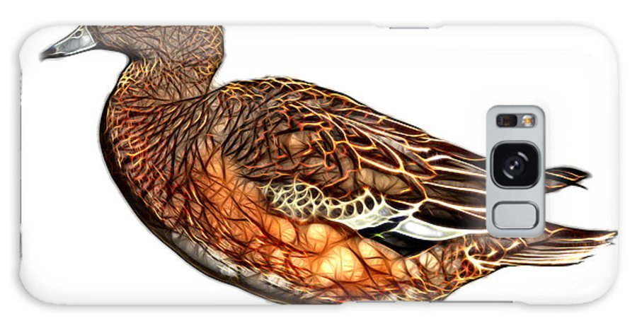American Wigeon Galaxy S8 Case featuring the mixed media Wigeon Art - 7415 - Wb by James Ahn