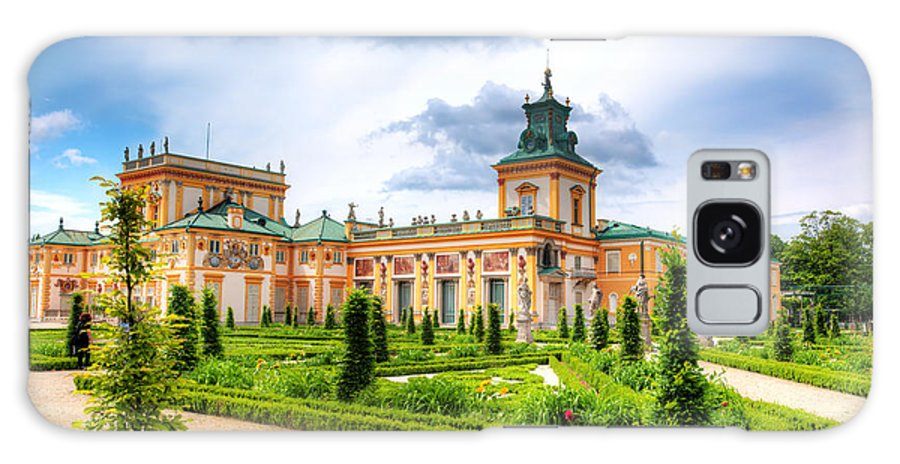Warsaw Galaxy S8 Case featuring the photograph Wilanow Palace In Warsaw Poland by Michal Bednarek
