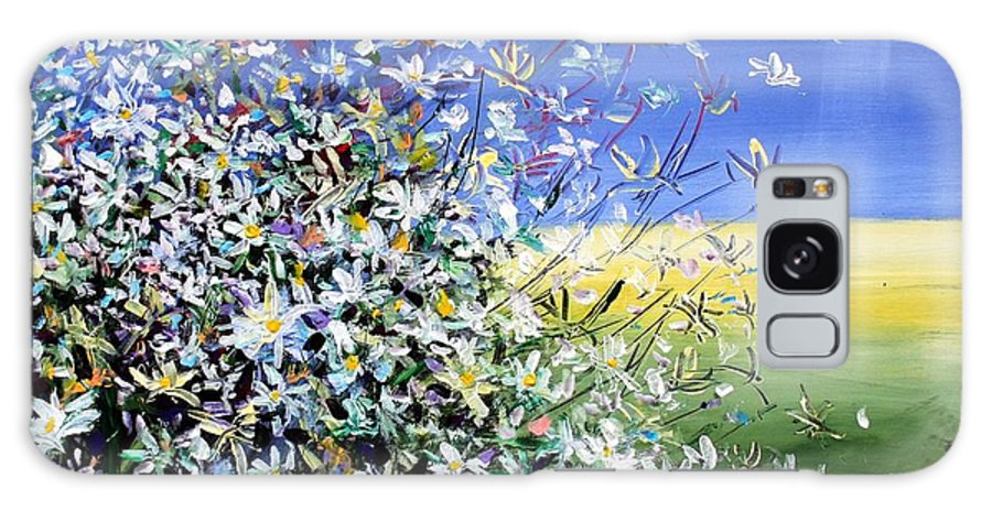 Daisies Galaxy Case featuring the painting Wild Daisies by Mario Zampedroni