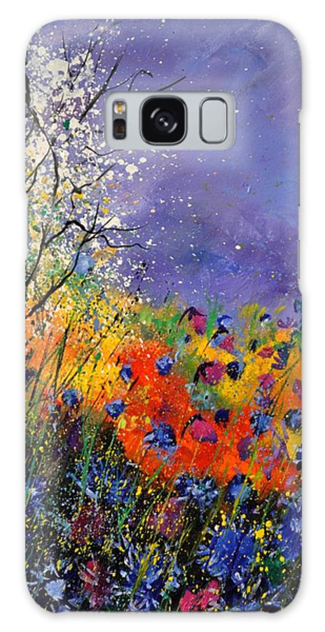 Landscape Galaxy Case featuring the painting Wild Flowers 4110 by Pol Ledent