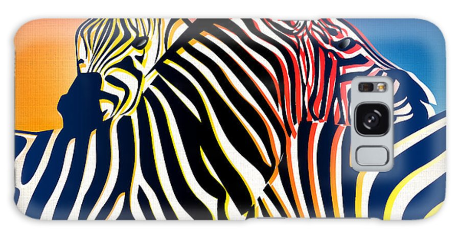 Zebra Galaxy S8 Case featuring the painting Wild Life 2 by Mark Ashkenazi