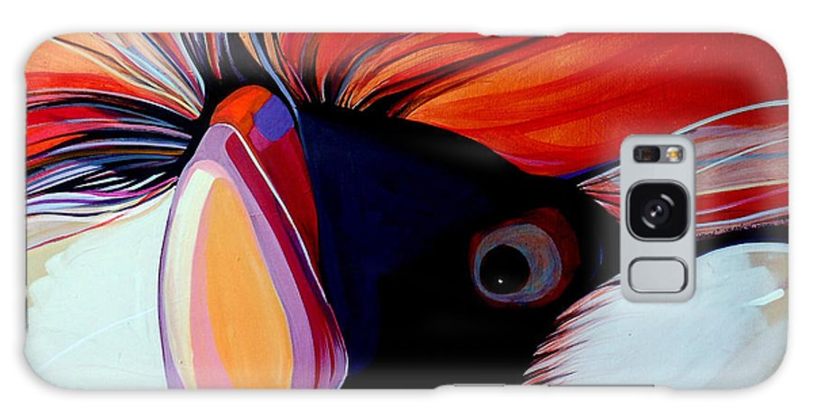 Bird Galaxy S8 Case featuring the painting Wild Thang by Marlene Burns