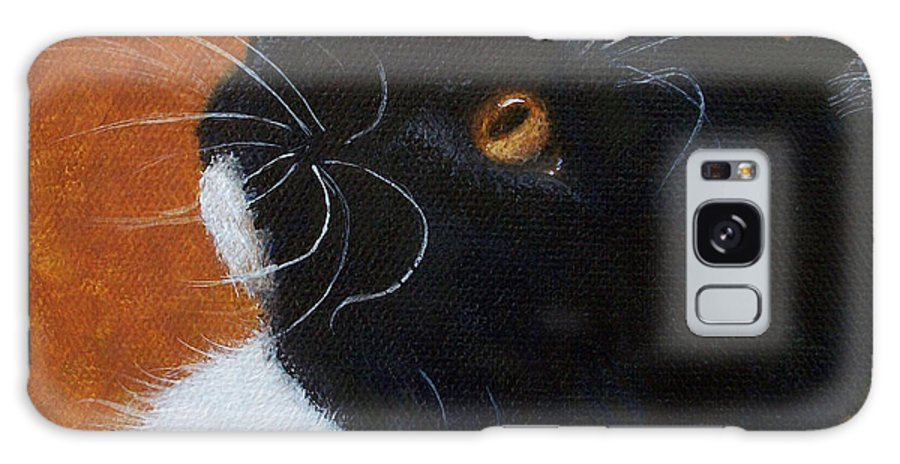 Cat Galaxy S8 Case featuring the painting Wild Whiskers by Elizabeth Elgin