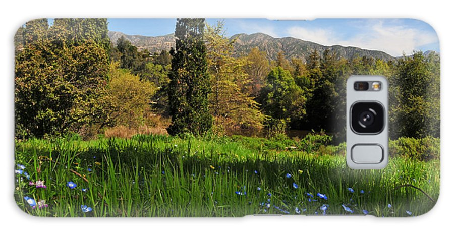 Wildflower Galaxy S8 Case featuring the photograph Wildflower Meadow At Descanso Gardens by Lynn Bauer