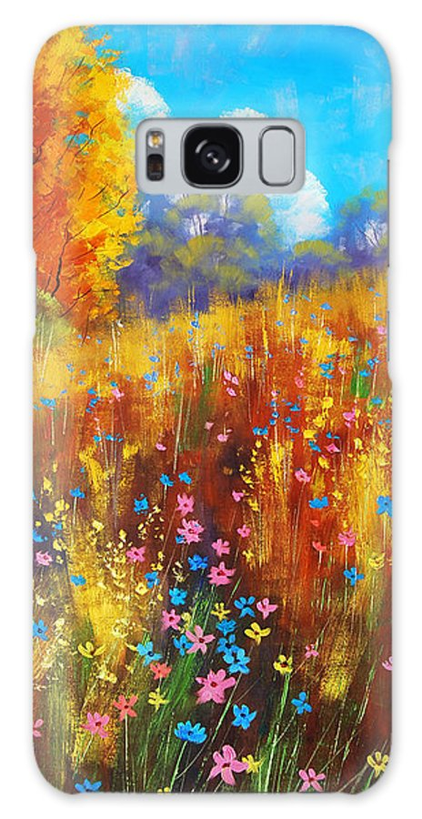 Spring Wildflowers Galaxy S8 Case featuring the painting Wildflowers by Graham Gercken