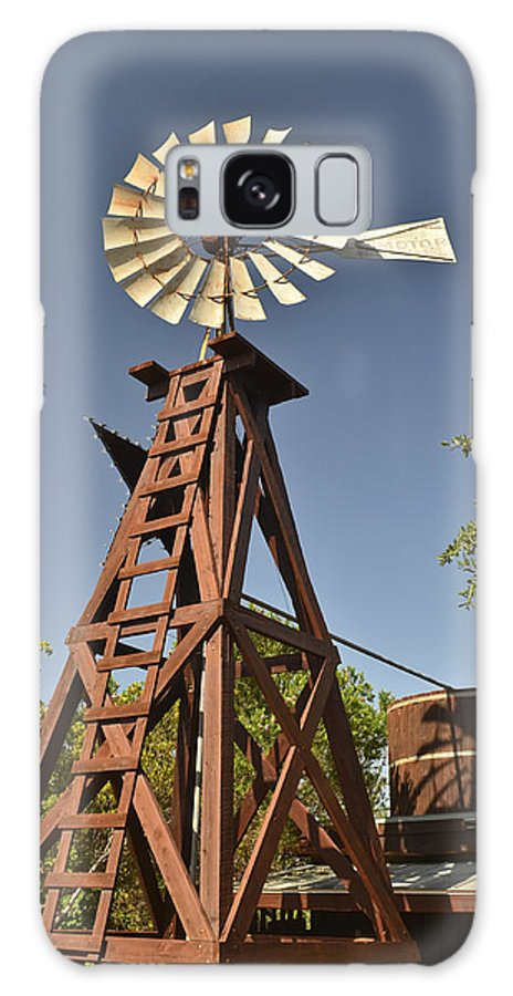 Fredericksburg Galaxy S8 Case featuring the photograph Wildseed Farms Windmill by Allen Sheffield
