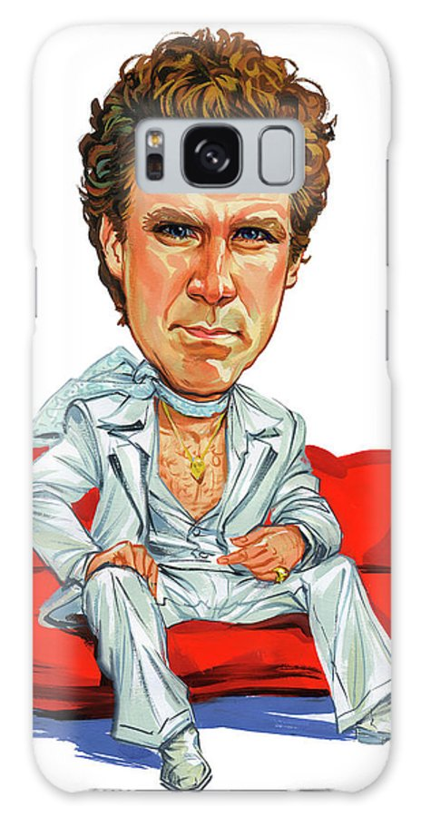 Will Ferrell Galaxy S8 Case featuring the painting Will Ferrell by Art