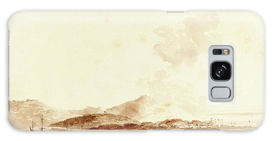 William Galaxy S8 Case featuring the drawing William Daniell, British 1769-1837, A View In India by Litz Collection