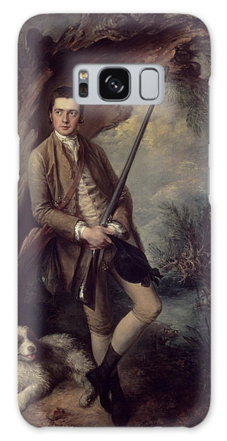 Portrait Galaxy S8 Case featuring the photograph William Poyntz Of Midgham And His Dog Amber Oil On Canvas by Thomas Gainsborough