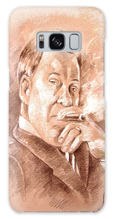 Portrait William Shatner Galaxy S8 Case featuring the painting William Shatner As Denny Crane In Boston Legal by Miki De Goodaboom