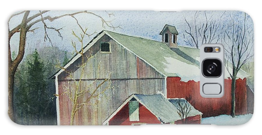 New England Galaxy Case featuring the painting Williston Barn by Mary Ellen Mueller Legault