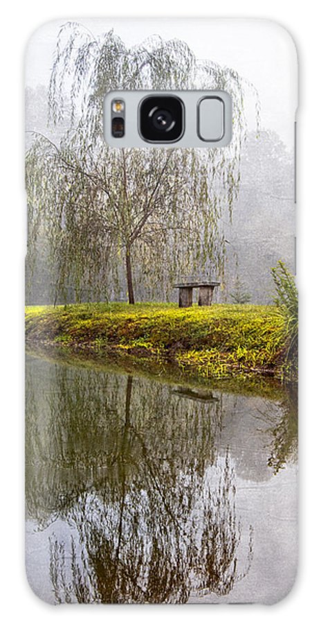 Carolina Galaxy S8 Case featuring the photograph Willow Tree At The Pond by Debra and Dave Vanderlaan