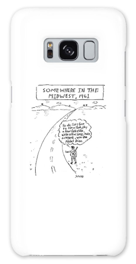 Somewhere In The Midwest Galaxy Case featuring the drawing Win The Nobel Prize by David Sipress