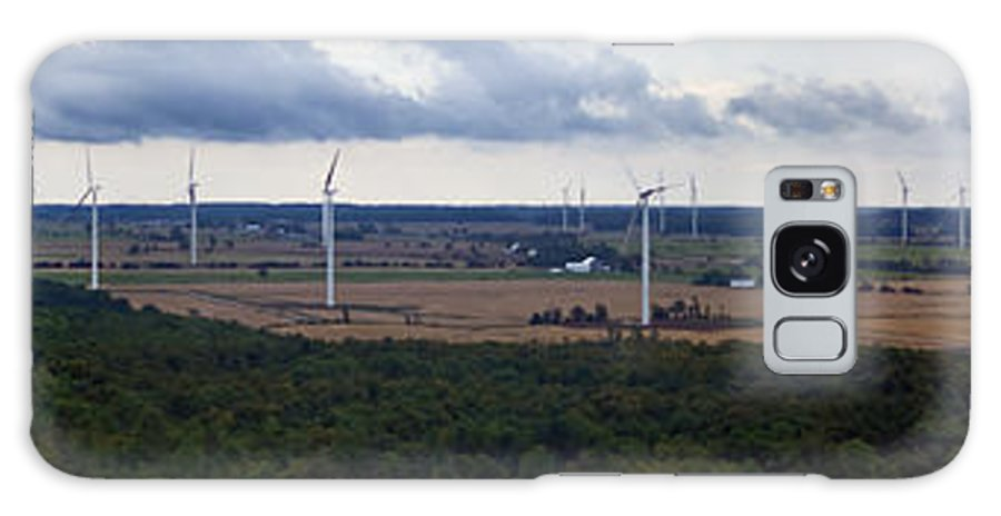 Wind Farm Galaxy S8 Case featuring the photograph Wind Energy Panorama by Jim Finch