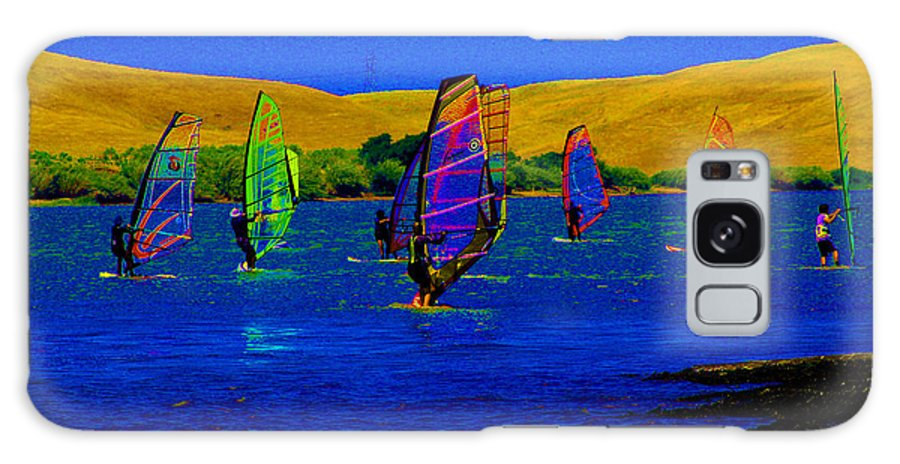 Windsurfing Galaxy S8 Case featuring the digital art Wind Surf Lessons by Joseph Coulombe