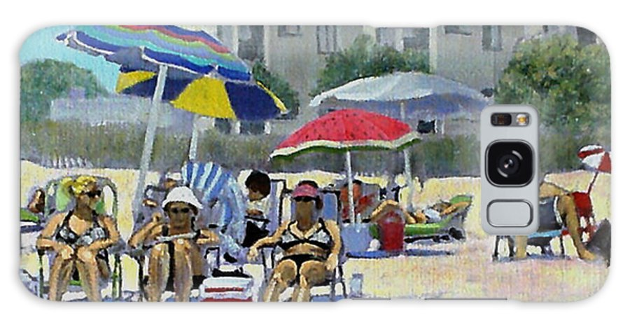 Beach Paintings Galaxy S8 Case featuring the painting Windblown And Sunburned by David Zimmerman