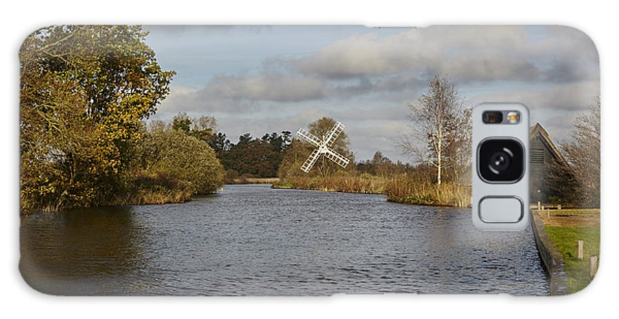 How Hill Galaxy S8 Case featuring the photograph Windmill How Hill by Ralph Muir