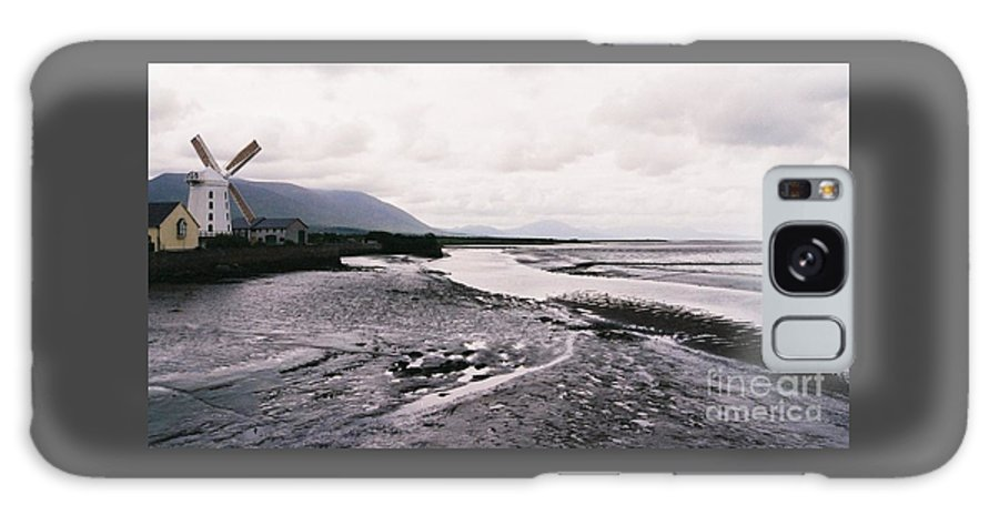 Ireland Europe Travel Windmill Art County Kerry Estuary Water Landscape Tourism River Mountains Clouds Day Stock Shot Moody Blennerville Estuary River Black And White With Color Low Tide Mud Misty Outdoors Timeless Vision Mountains Metal Frame Suggested Canvas Print Poster Print Available On T Shirts Shower Curtains Pouches Weekender Tote Bags And Phone Cases Galaxy S8 Case featuring the photograph Windmill In Blennerville, Co. Kerry # 1 by Marcus Dagan