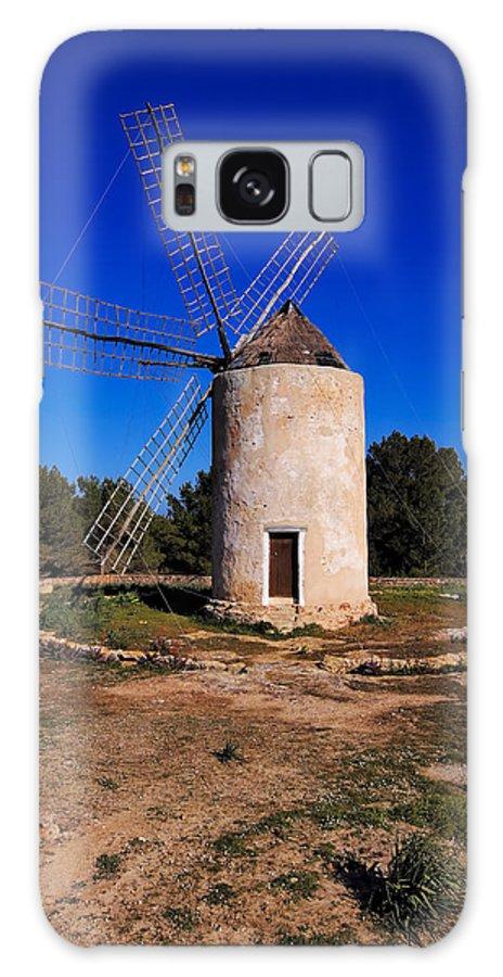 Windmill Galaxy S8 Case featuring the photograph Windmill In El Pilar De La Mola On Formentera by Karol Kozlowski