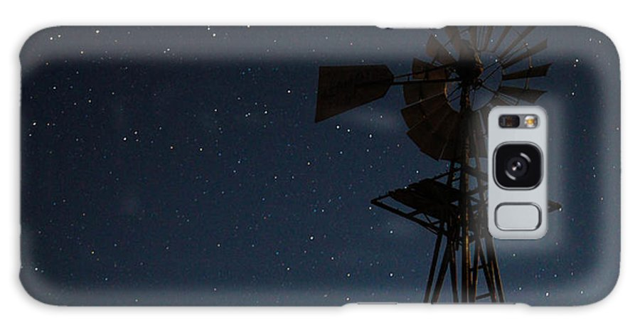Windmill Galaxy S8 Case featuring the photograph Windmill In The Moonlight by Mark Short