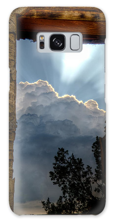 Window Clouds Sky Adobe Walls Ruins ghost Town Rain Desert high Desert new Mexico Sw Southwest roch Hart new Mexico Jeep Tours Galaxy S8 Case featuring the photograph Window Of Hope by Roch Hart