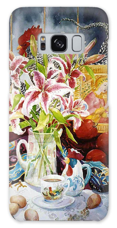 Still Life Galaxy S8 Case featuring the painting Window Shopping by Sue Kemp