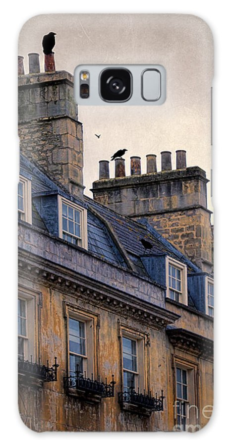 Bath Galaxy S8 Case featuring the photograph Windows And Chimneys by Jill Battaglia
