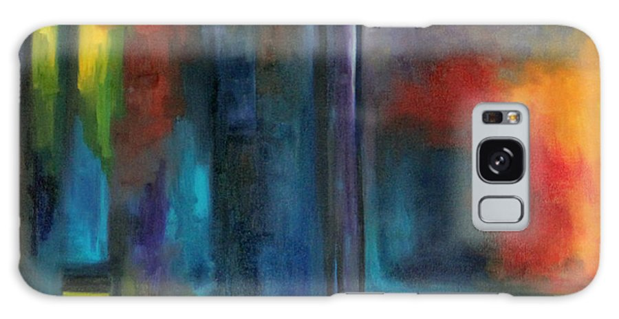 Abstract Galaxy S8 Case featuring the painting Windows by Alejandra Pineiro