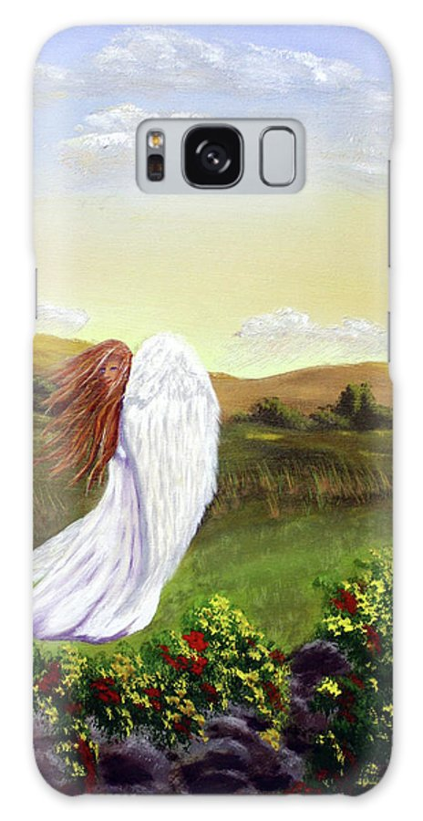 Angel Galaxy S8 Case featuring the painting Windswept Angel by Dawn Blair