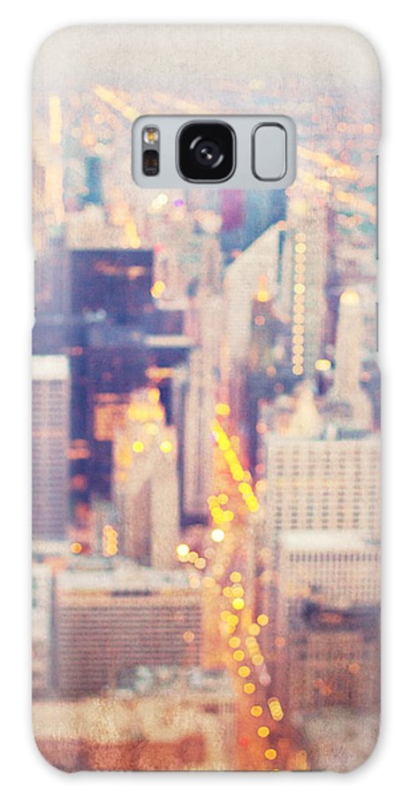 Chicago Galaxy S8 Case featuring the photograph Windy City Lights - Chicago by Melanie Alexandra Price