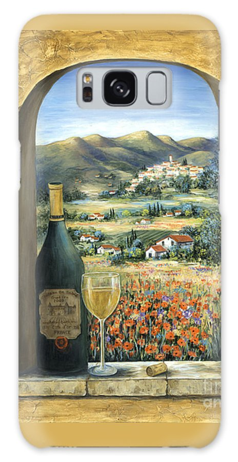Wine Galaxy S8 Case featuring the painting Wine And Poppies by Marilyn Dunlap