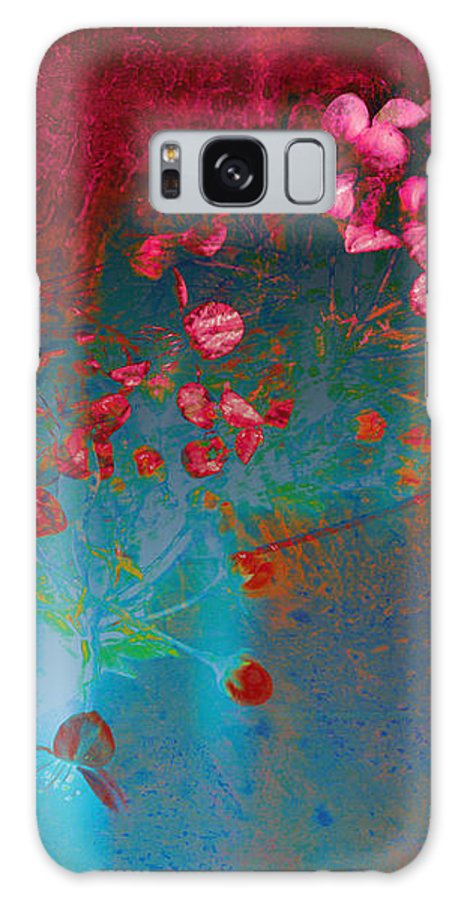 Abstract.abstracts Galaxy S8 Case featuring the mixed media Wine And Roses by Ann Powell