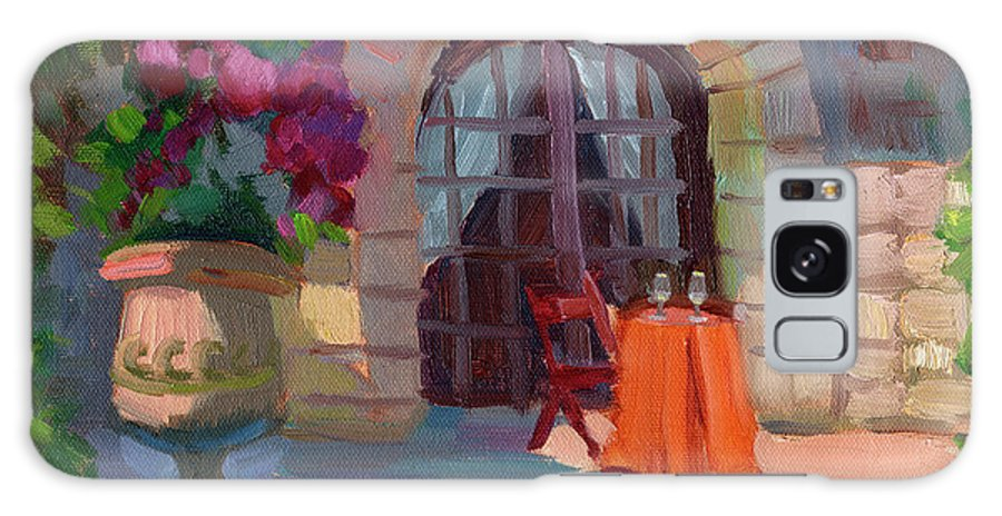 Wine For Two Galaxy S8 Case featuring the painting Wine For Two by Diane McClary