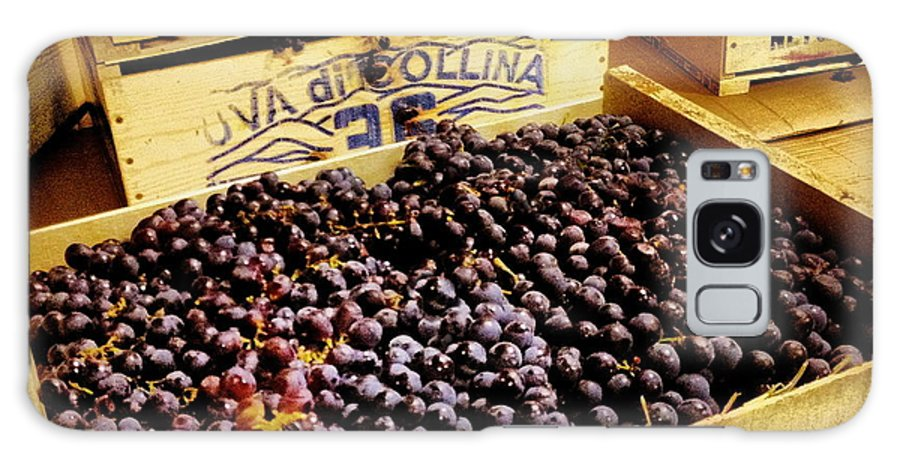 Grape Galaxy S8 Case featuring the photograph Wine Grapes by Angela Rath