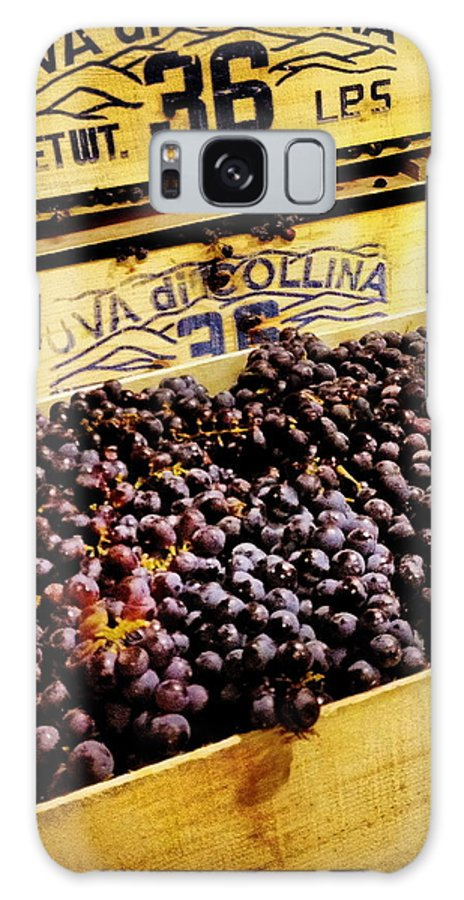 Grape Galaxy S8 Case featuring the photograph Wine Grapes II by Angela Rath