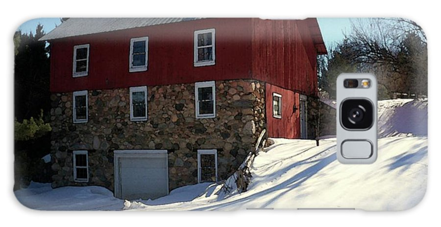 Stone Barn Galaxy S8 Case featuring the photograph Winery Barn In Winter by Desiree Paquette