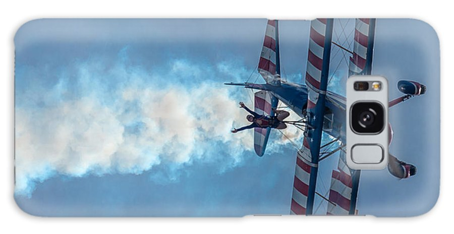 Aircraft Galaxy S8 Case featuring the photograph Wingwalker Enjoying Herself by Mike Watts