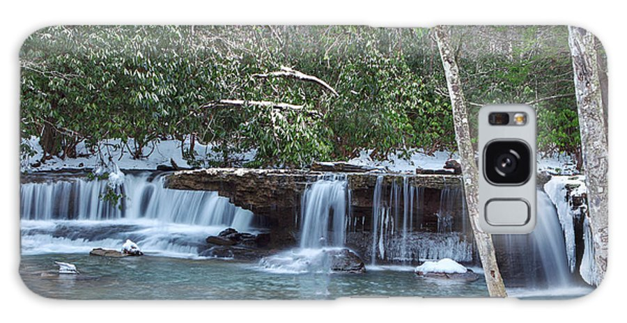 Mash Fork Galaxy S8 Case featuring the photograph Winter At Mash Fork Falls by Mary Almond