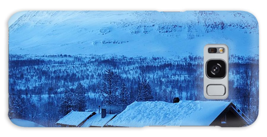 Norway Galaxy S8 Case featuring the photograph Winter Cabin Arctic Alpinglow by David Broome
