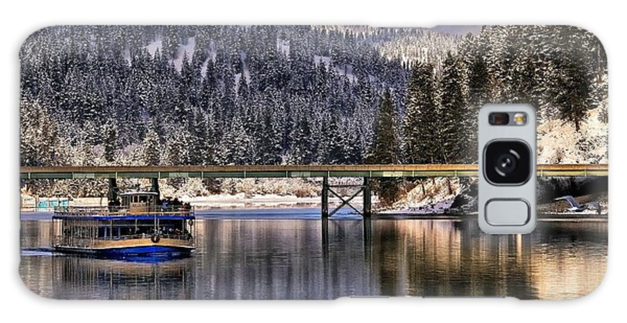 Lake Coeur D'alene Galaxy S8 Case featuring the photograph Winter Cruising On The Mish-an-nock by Philip Kuntz