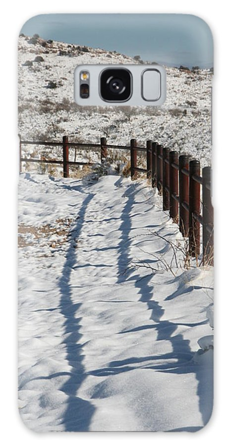 David S Reynolds Galaxy S8 Case featuring the photograph Winter Fence by David S Reynolds