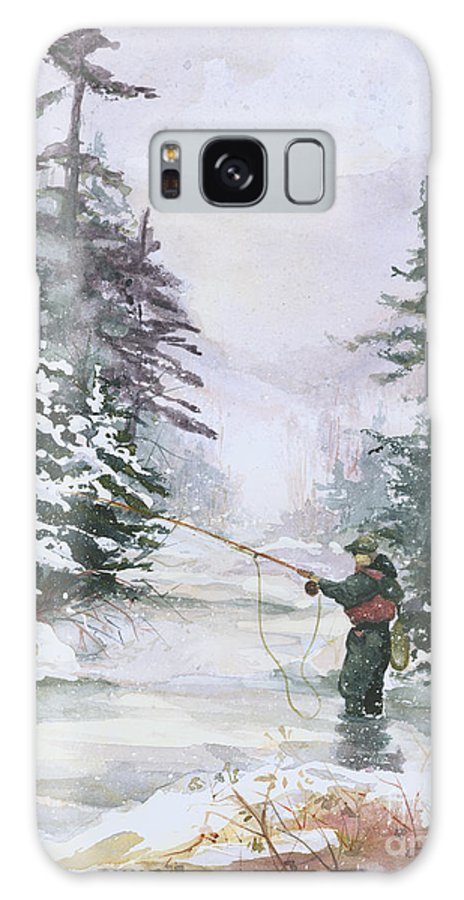 Magic Galaxy S8 Case featuring the painting Winter Magic by Elisabeta Hermann