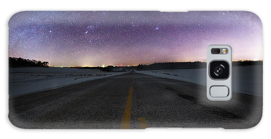 Winter Galaxy S8 Case featuring the photograph Winter Milky Way by Aaron J Groen