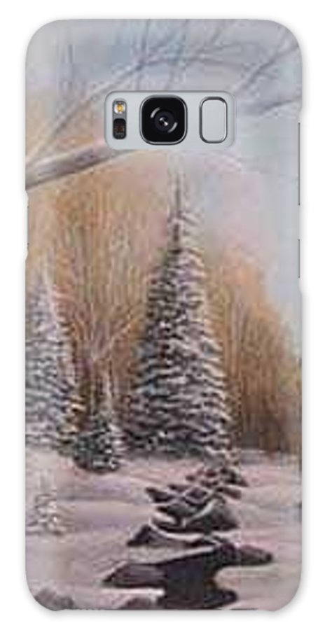 Rick Huotari Galaxy S8 Case featuring the painting Winter Morning by Rick Huotari
