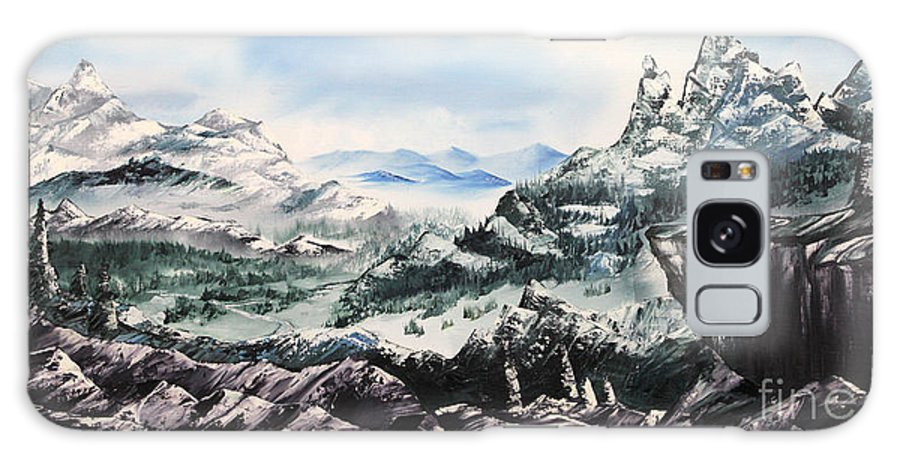 Mountains Galaxy S8 Case featuring the painting Winter Mountians by Joseph Banhart
