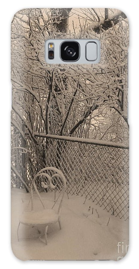 Sepia Galaxy S8 Case featuring the photograph Winter Of One by Adri Turner