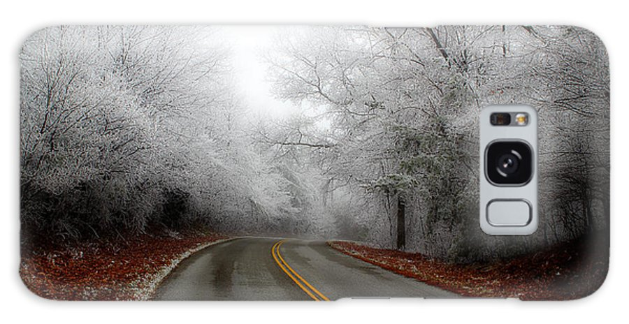 Frosted Roadway Galaxy S8 Case featuring the photograph Winter Road Trip by Michael Eingle