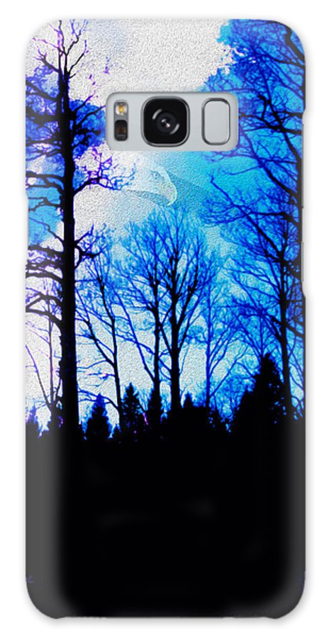 Trees Galaxy S8 Case featuring the photograph Winter Silhouettes - Ghost Eagle by Robert J Sadler