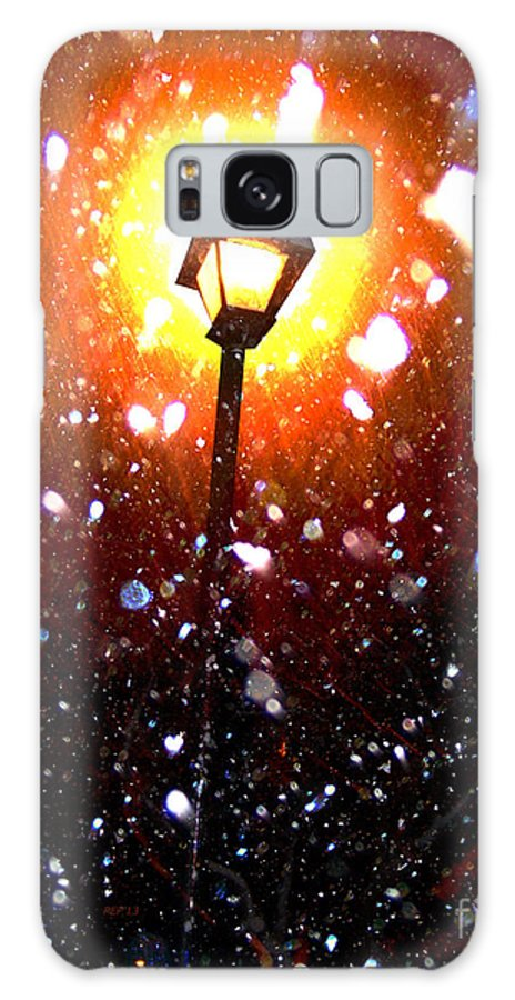 Winter Galaxy S8 Case featuring the photograph Winter Snow Storm At Night by Phil Perkins